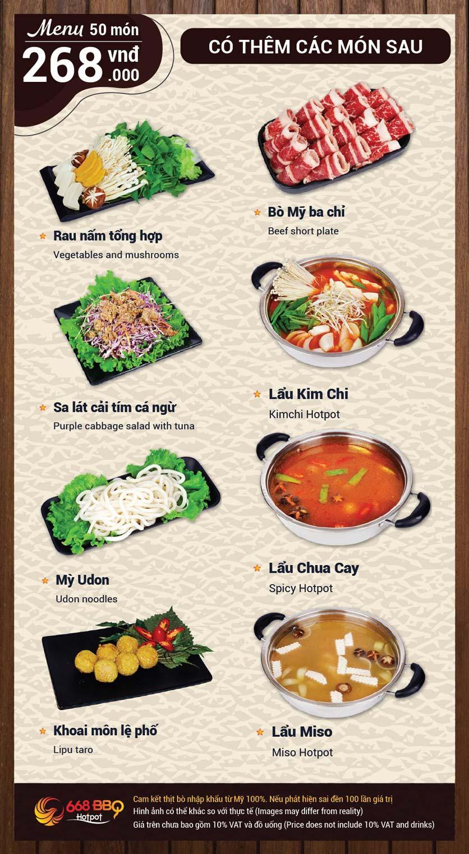 Menu 668 BBQ & hotpot -  Trần Thánh Tông 9