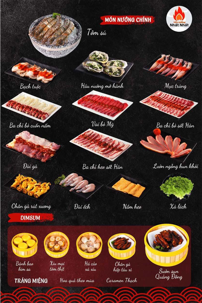 Menu Buffet Lẩu Nướng Nhất Nhất - Triều Khúc 7