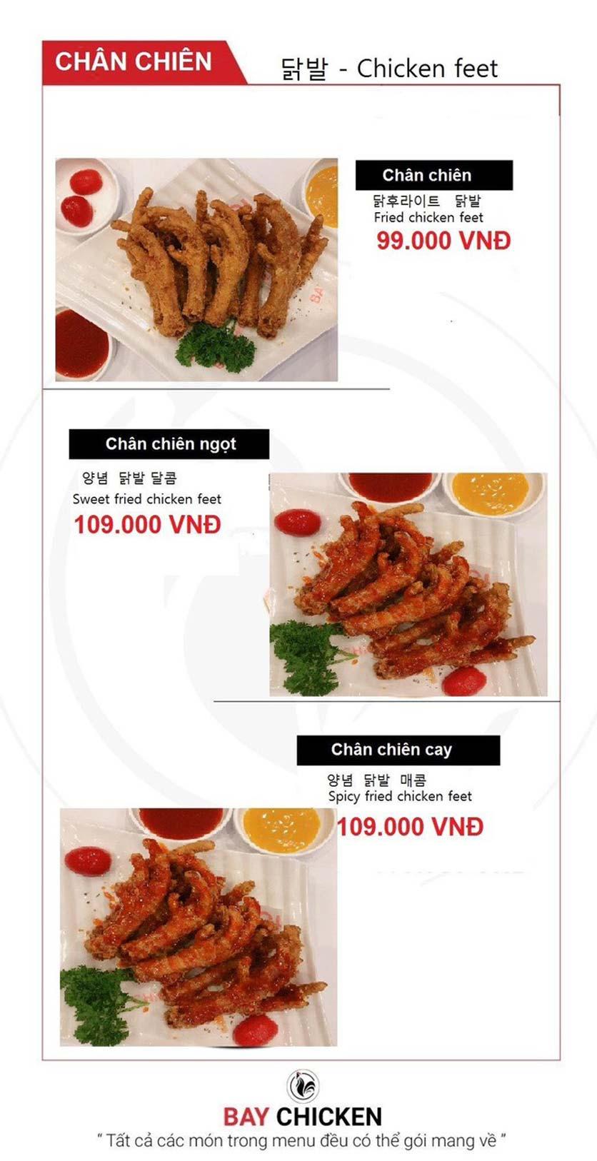 Menu Bay Chicken - Hàng Bún 9