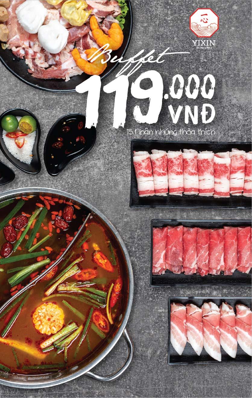 Menu Yixin - Lẩu Hồng Kông - Láng Hạ 2