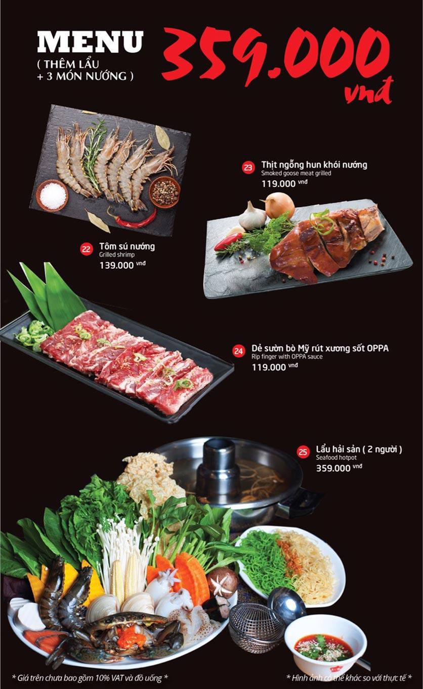 Menu Oppa BBQ - Trần Phú    3