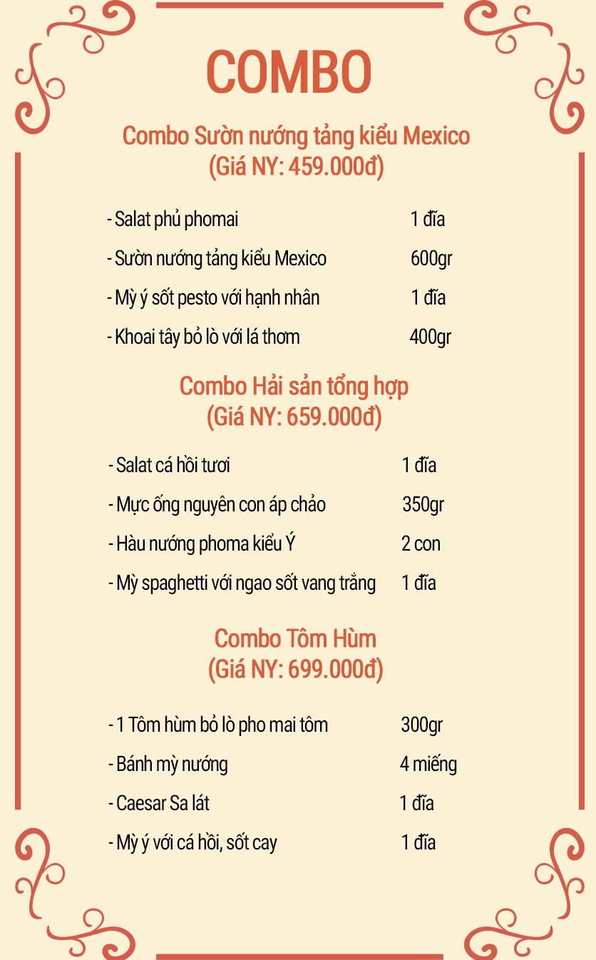 Menu Panorama Restaurant & Bar Top 1