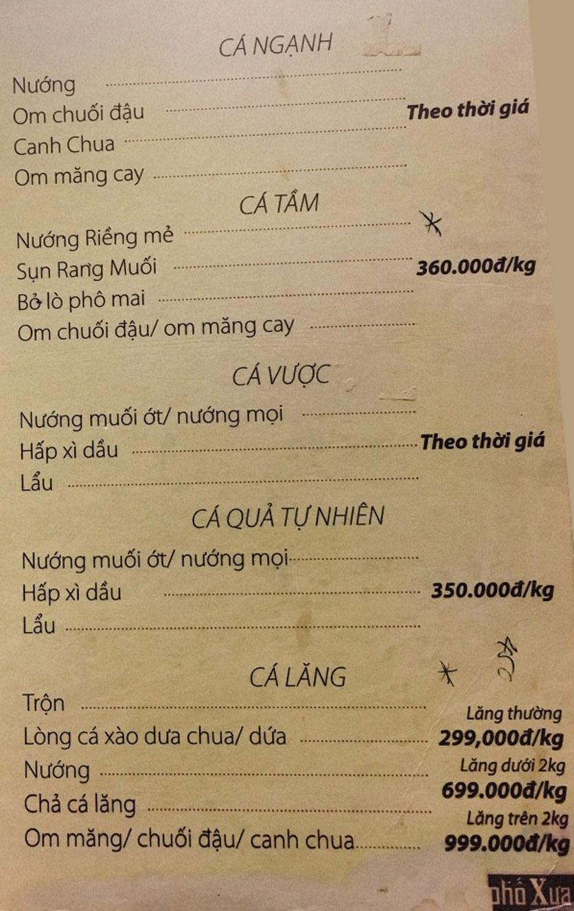 Menu Phố Xưa - Nguyễn Văn Tuyết 4