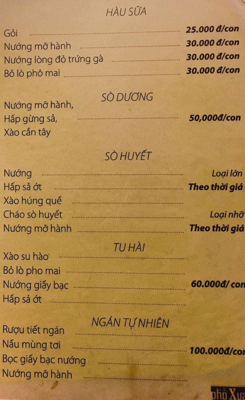 Menu Phố Xưa - Nguyễn Văn Tuyết 5