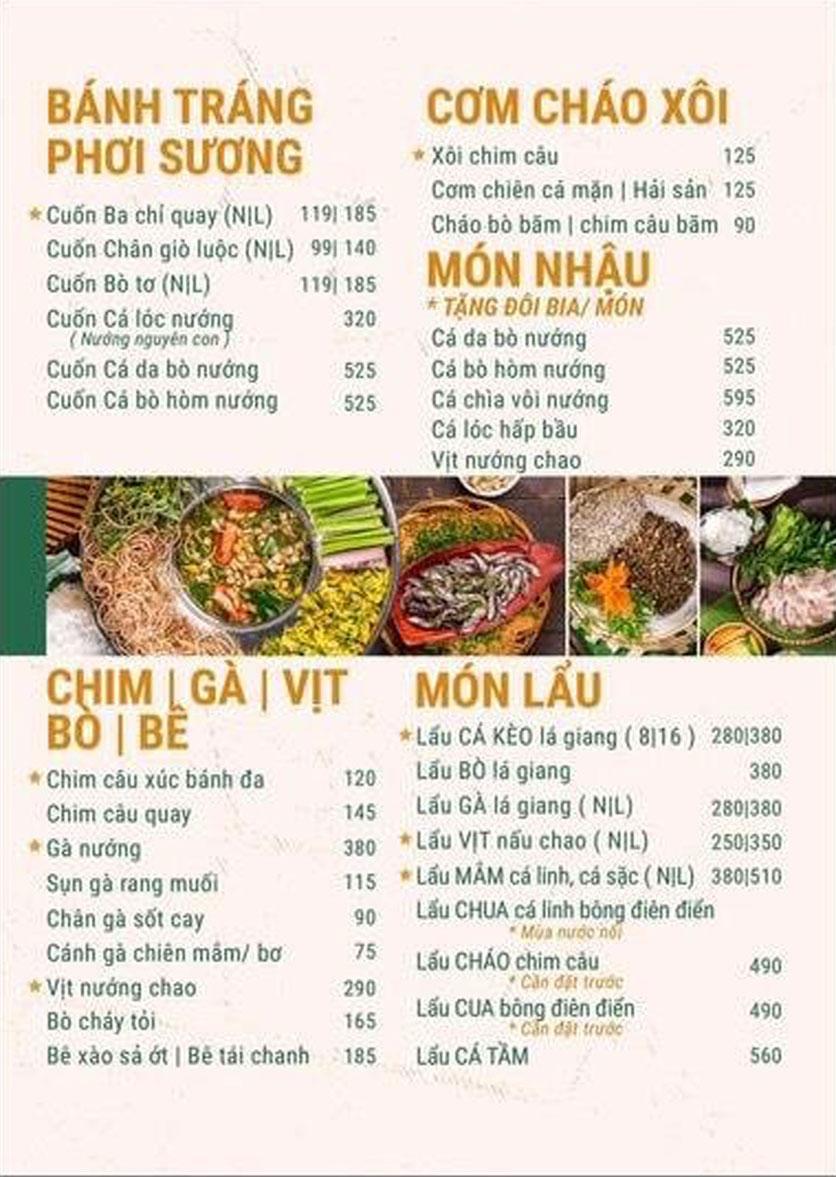 Menu Phương Nam - Chùa Láng 4