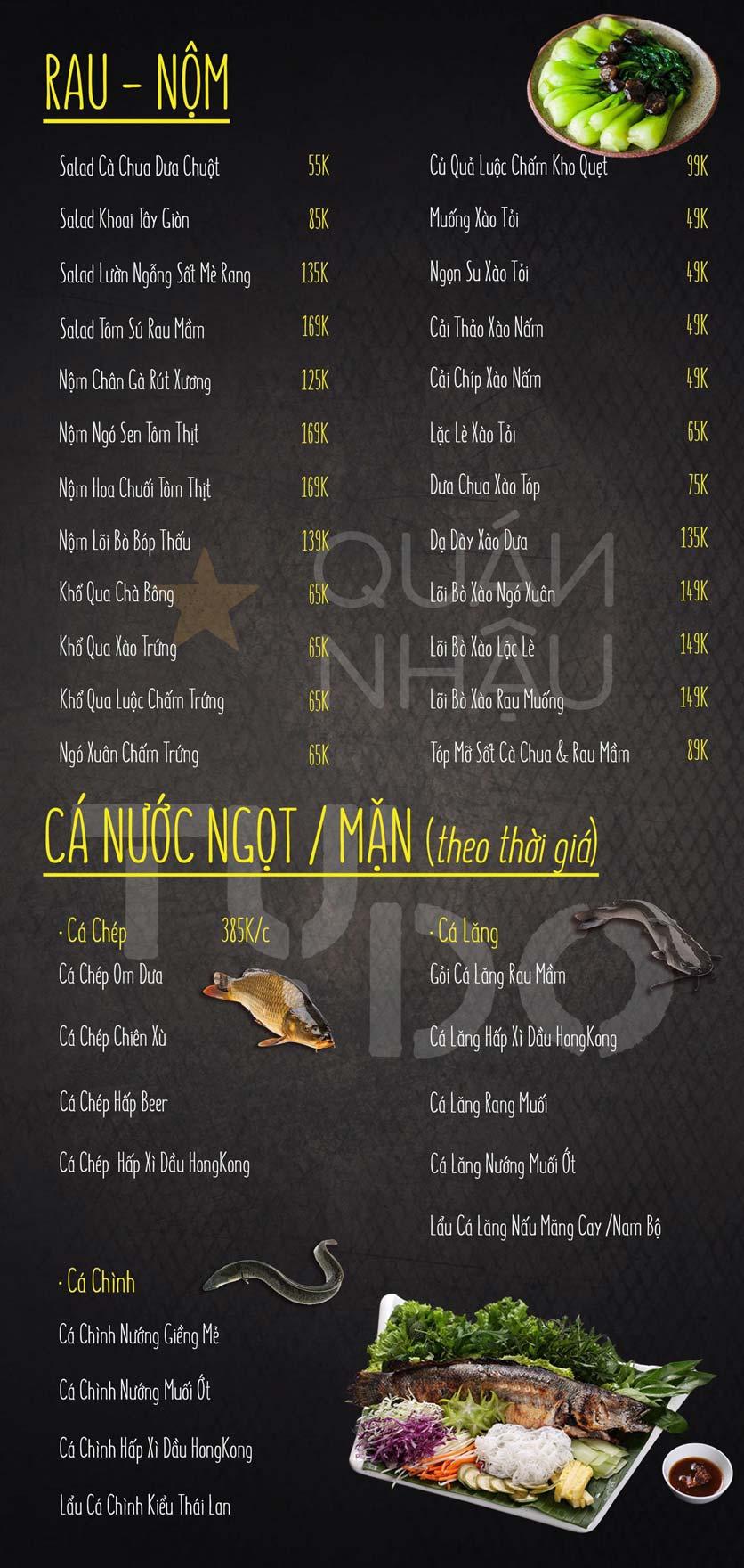 Menu Quán Nhậu Tự Do - Nguyễn Bỉnh Khiêm   4