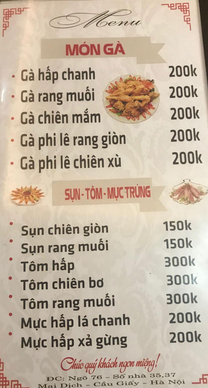 Menu Quán 99 – Lẩu Thái Chua Cay – Mai Dịch 4
