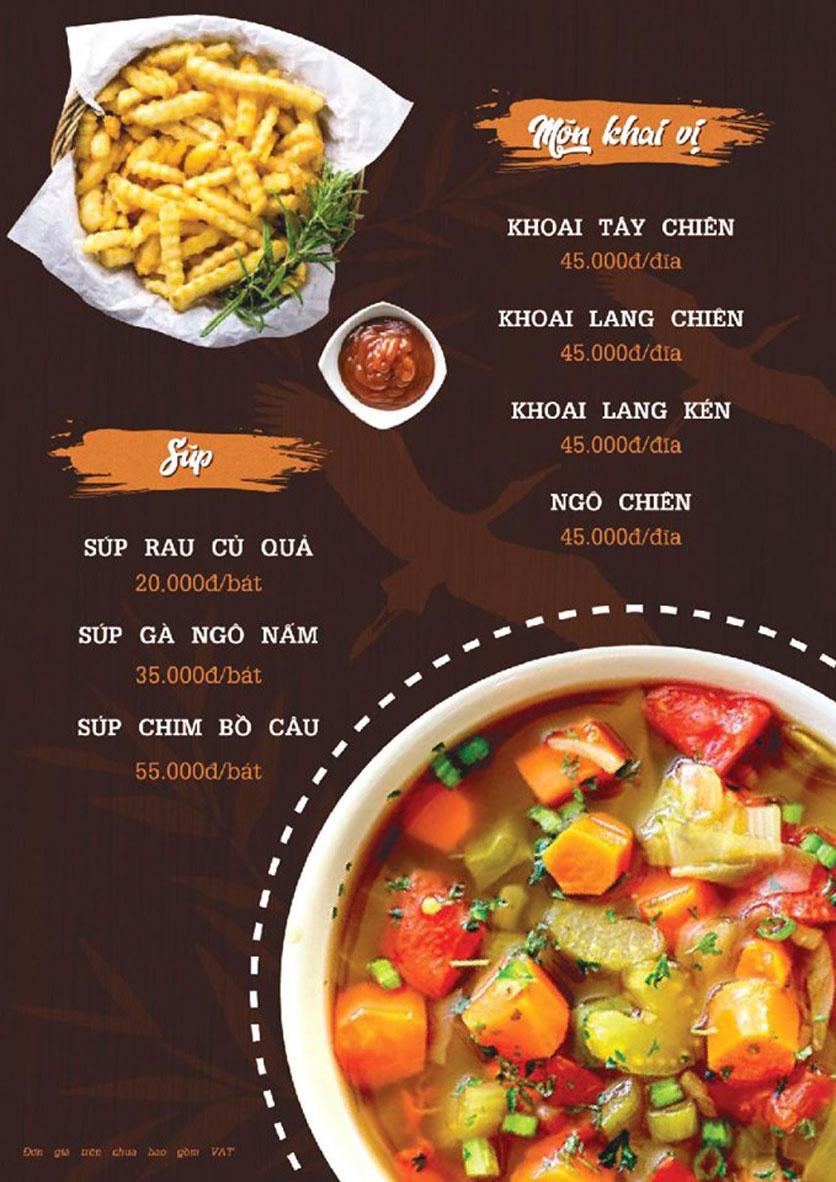 Menu Quý Cò – Nguyễn Huy Tưởng  2