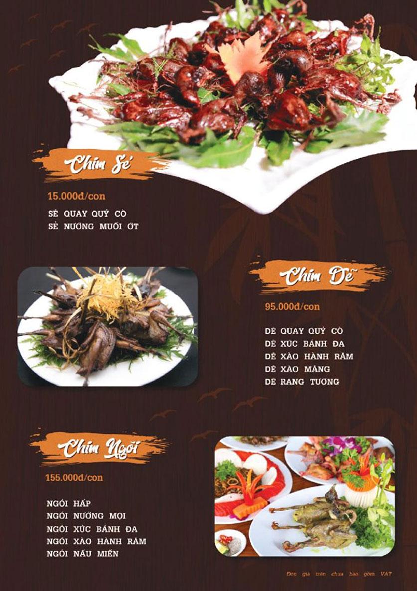 Menu Quý Cò – Nguyễn Huy Tưởng  4