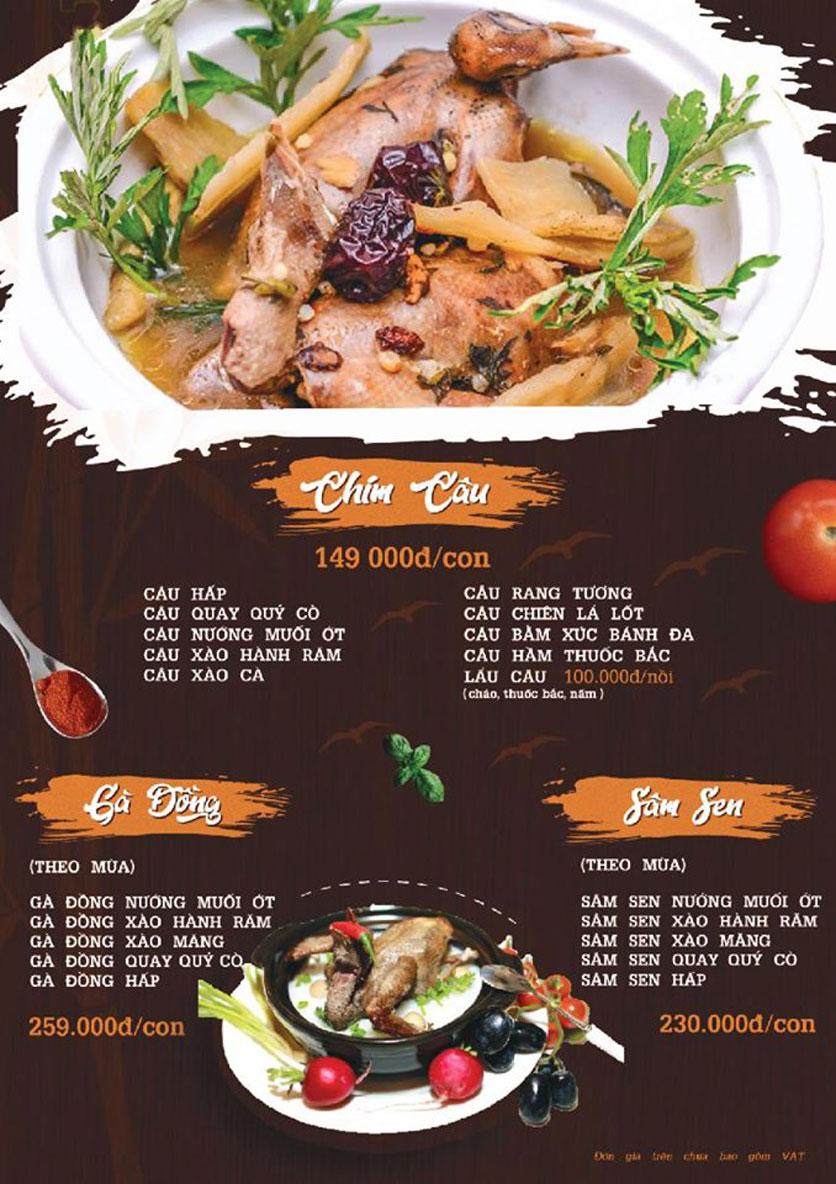 Menu Quý Cò – Nguyễn Huy Tưởng  6