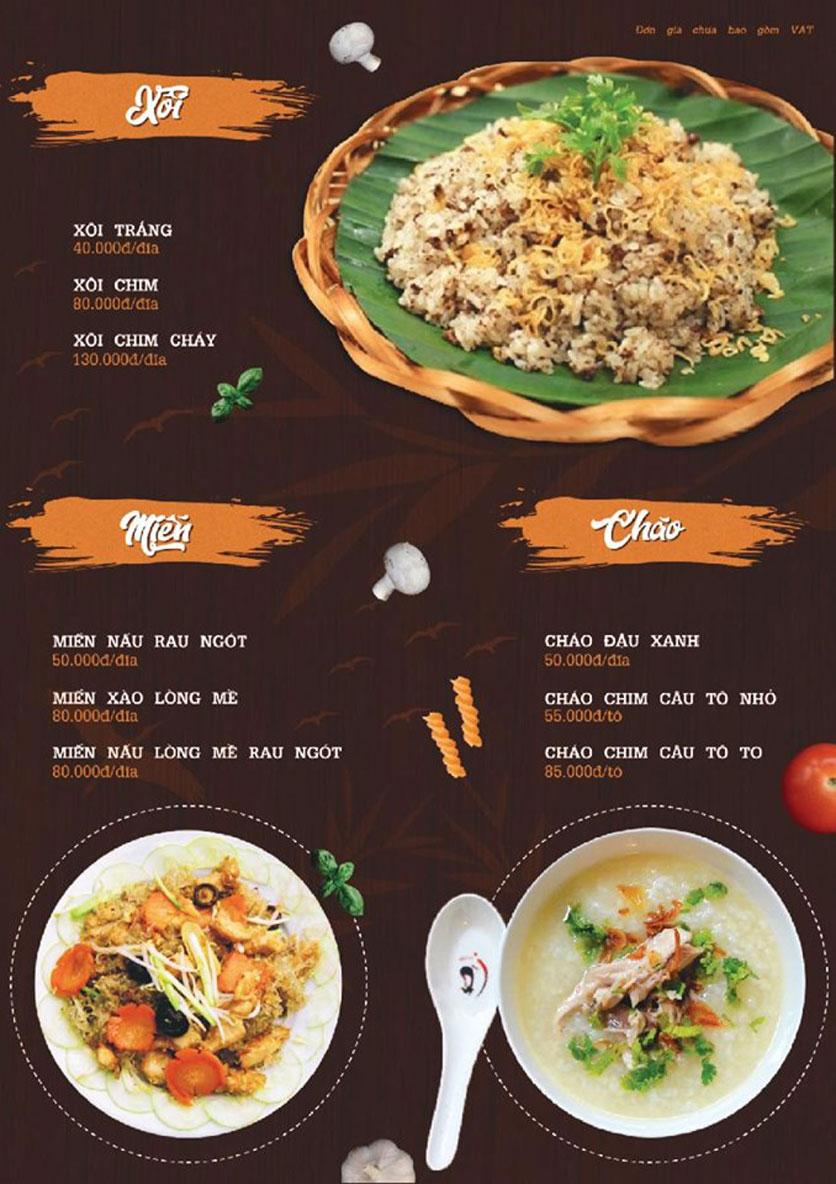 Menu Quý Cò – Nguyễn Huy Tưởng  9