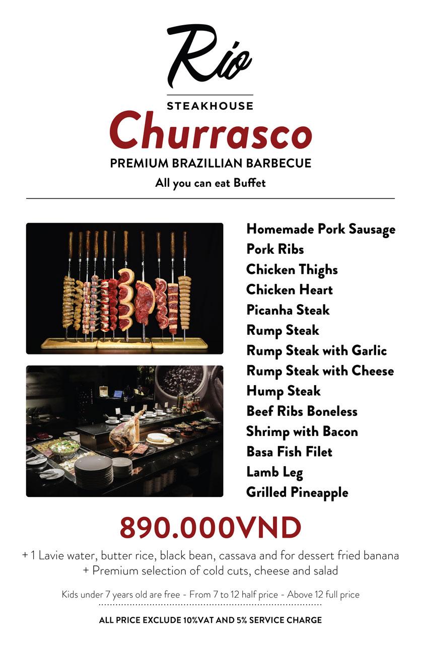Menu RIO Steakhouse & Brazilian Barbecue - Thái Văn Lung 1