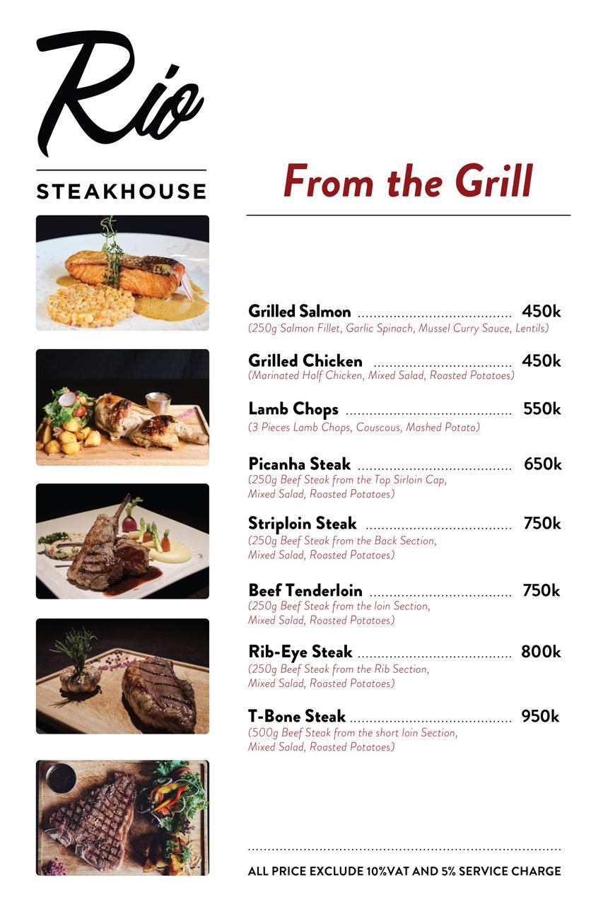 Menu RIO Steakhouse & Brazilian Barbecue - Thái Văn Lung 4