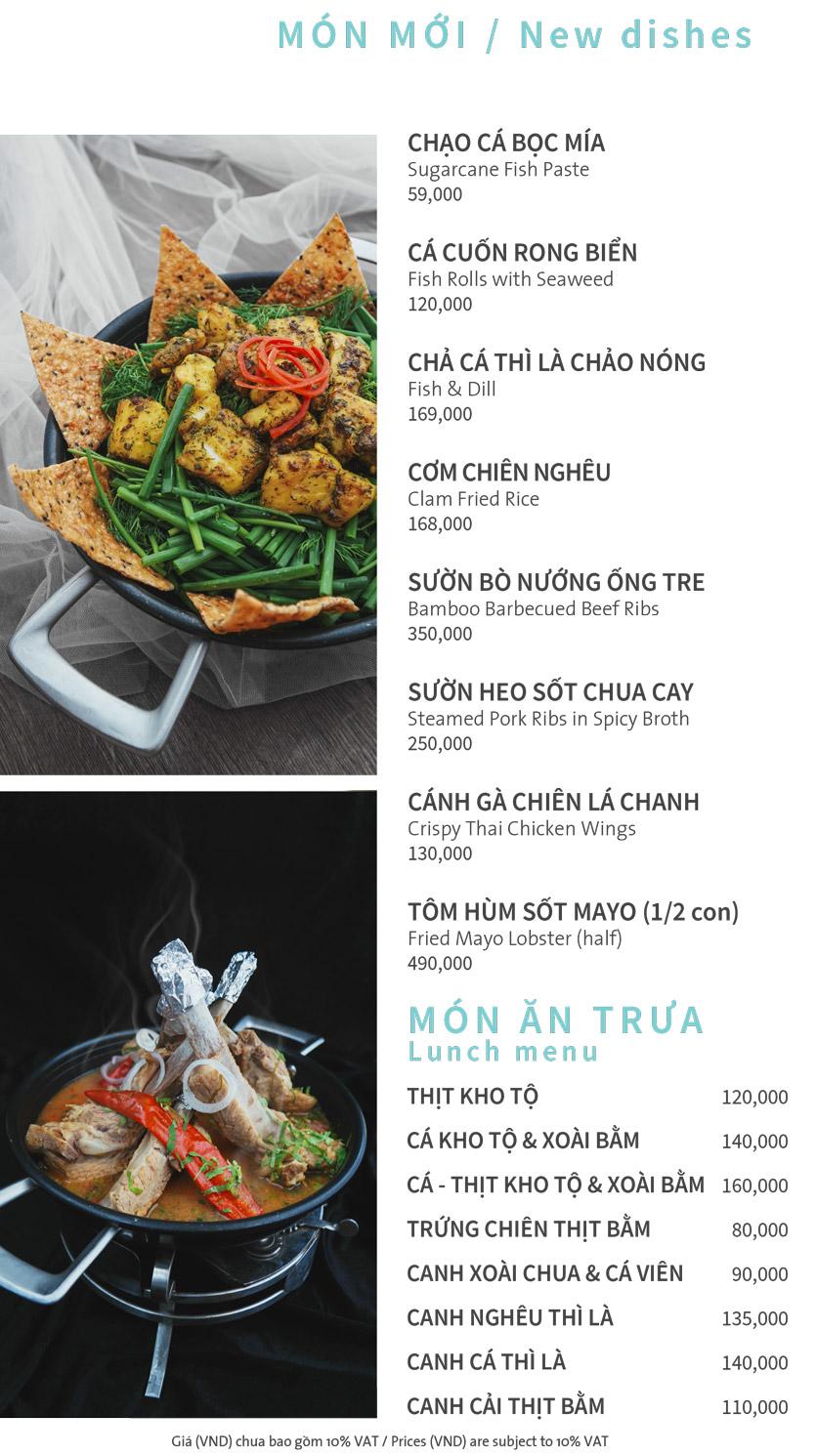 Menu Ẩm thực Hải sản RIVIA - Nguyễn Cư Trinh 1
