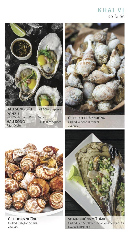 Menu Ẩm thực Hải sản RIVIA - Nguyễn Cư Trinh 2