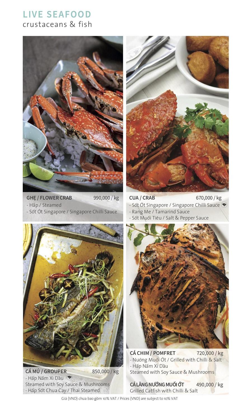 Menu Ẩm thực Hải sản RIVIA - Nguyễn Cư Trinh 12