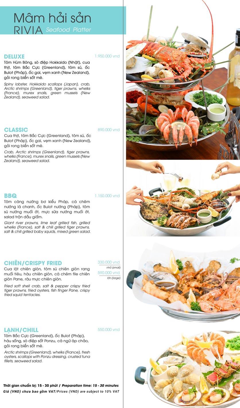 Menu Ẩm thực Hải sản RIVIA - Nguyễn Cư Trinh 13