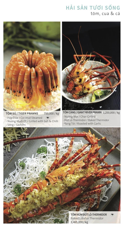 Menu Ẩm thực Hải sản RIVIA - Nguyễn Cư Trinh 14