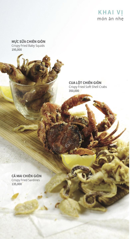 Menu Ẩm thực Hải sản RIVIA - Nguyễn Cư Trinh 3