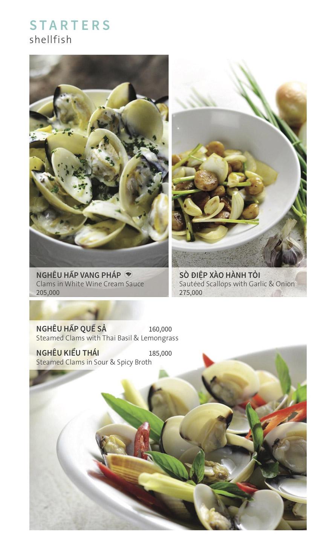 Menu Ẩm thực Hải sản RIVIA - Nguyễn Cư Trinh 4