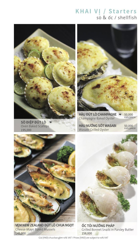 Menu Ẩm thực Hải sản RIVIA - Nguyễn Cư Trinh 7