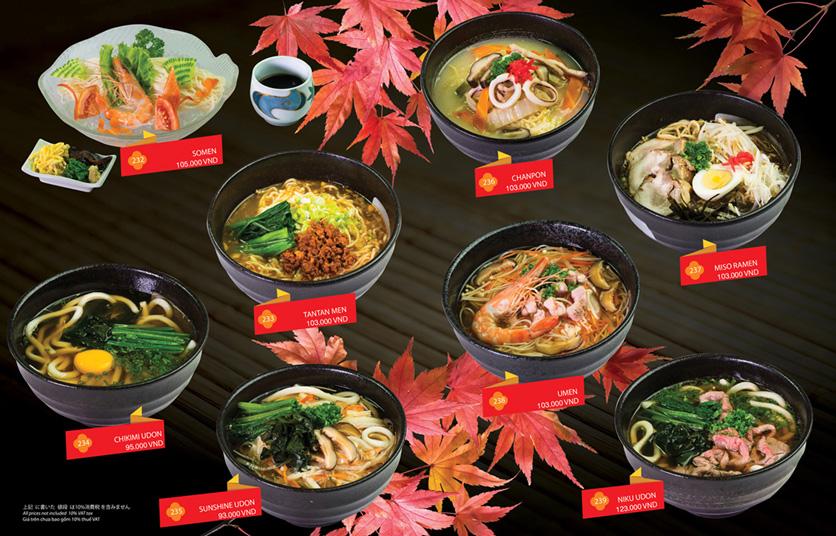 Menu Sakyo Sushi & Hotpot - Lê Thánh Tôn 18