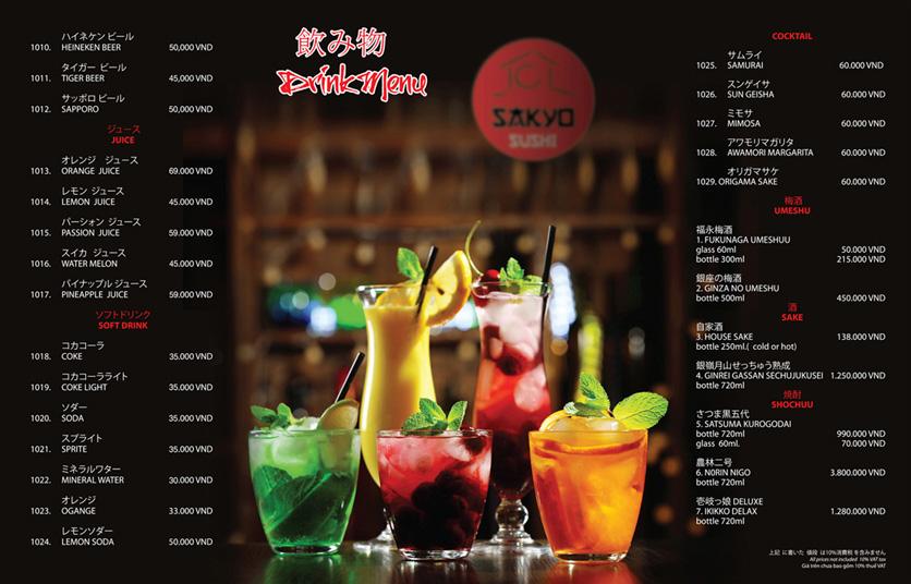 Menu Sakyo Sushi & Hotpot - Lê Thánh Tôn 26