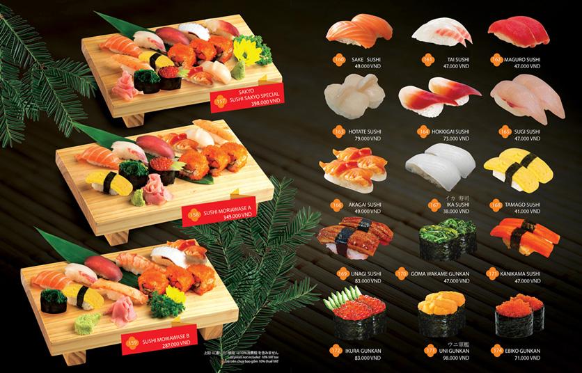Menu Sakyo Sushi & Hotpot - Lê Thánh Tôn 5