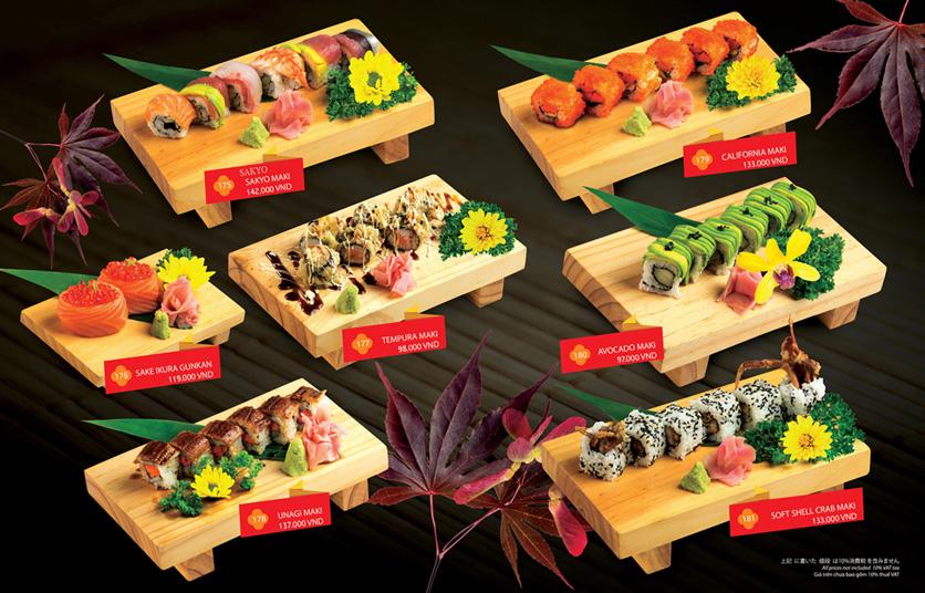 Menu Sakyo Sushi & Hotpot - Lê Thánh Tôn 6