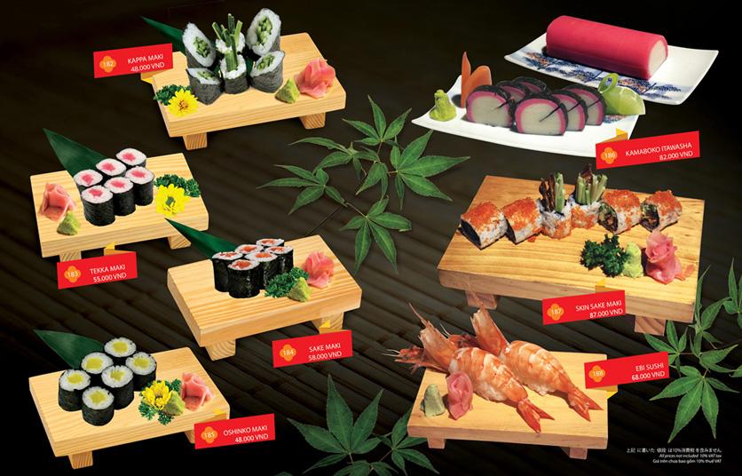 Menu Sakyo Sushi & Hotpot - Lê Thánh Tôn 7