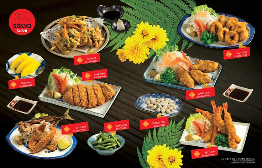Menu Sakyo Sushi & Hotpot - Lê Thánh Tôn 9