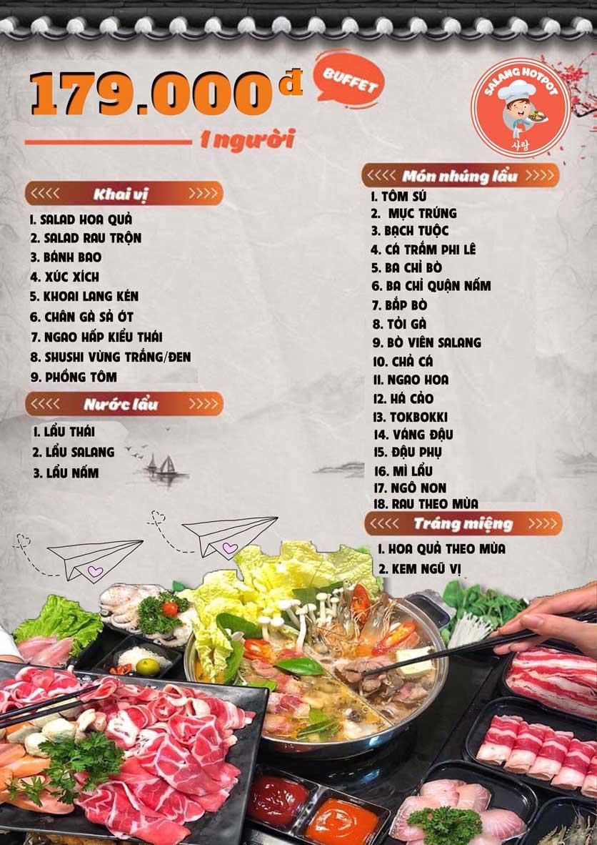 Menu Salang Hotpot - Trần Đại Nghĩa 1