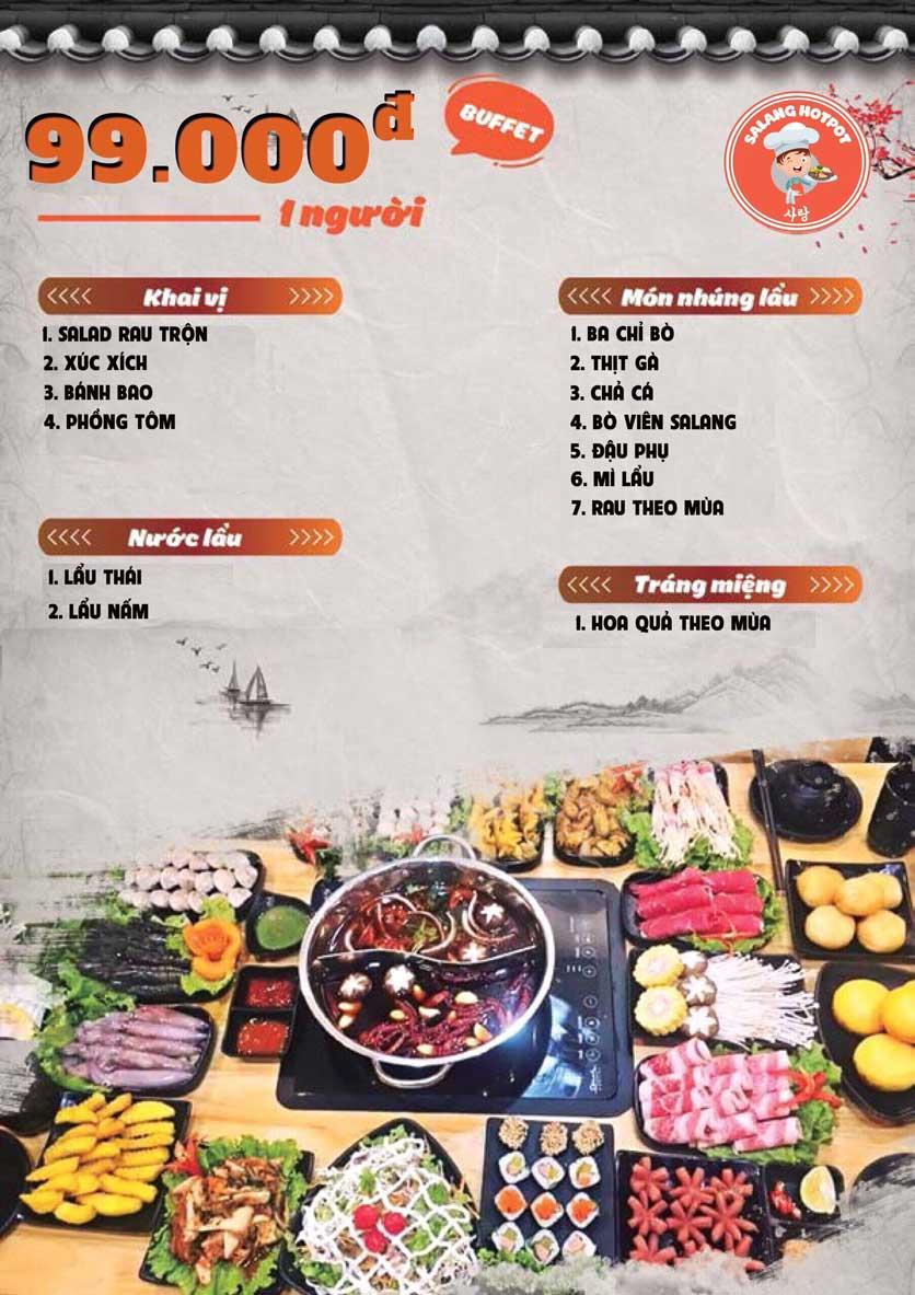 Menu Salang Hotpot - Trần Đại Nghĩa 2