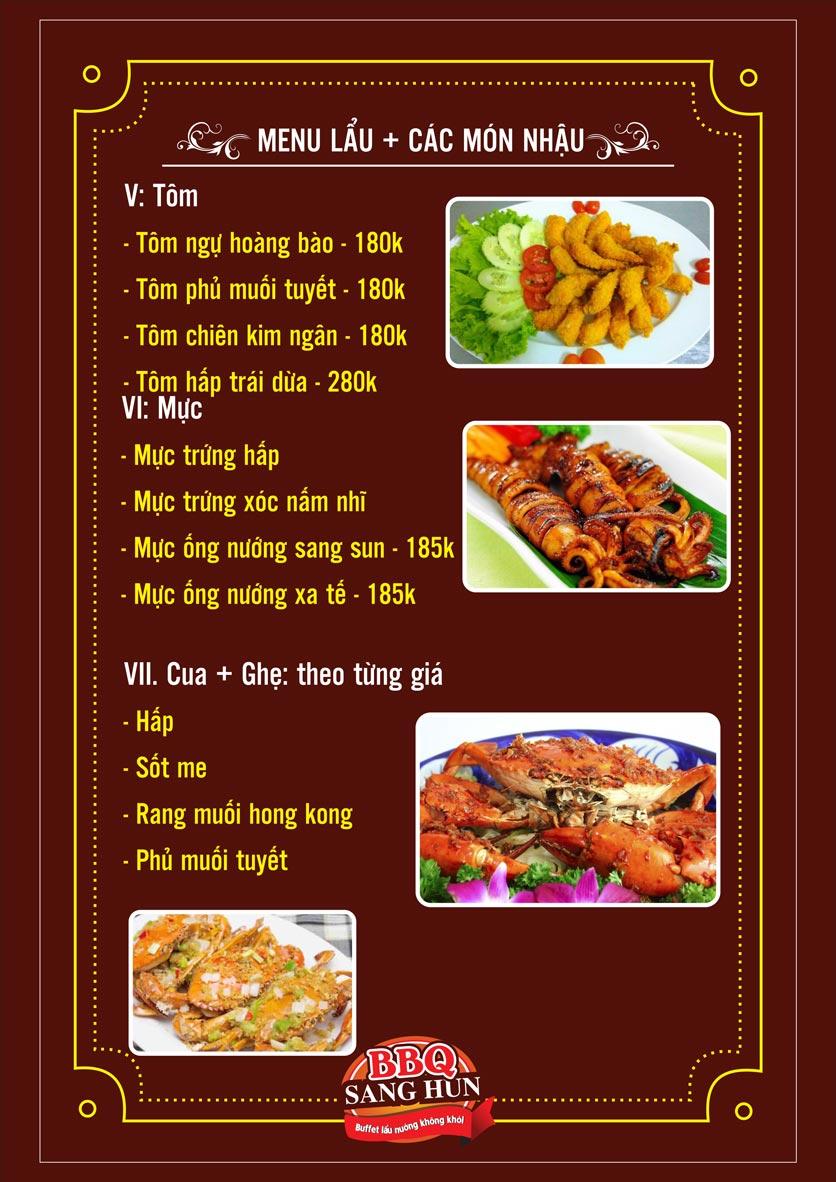 Menu Sang Hun BBQ – Trần Quốc Hoàn  21
