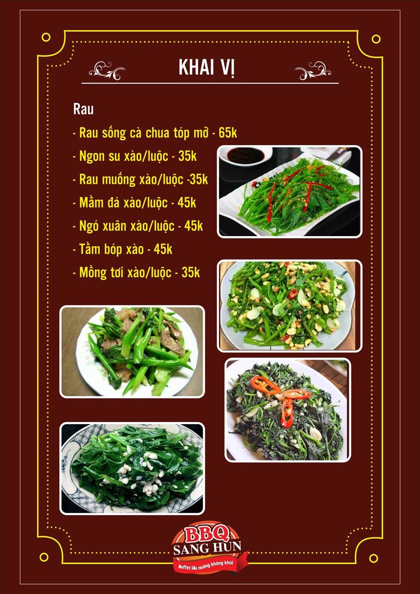 Menu Sang Hun BBQ – Trần Quốc Hoàn  24