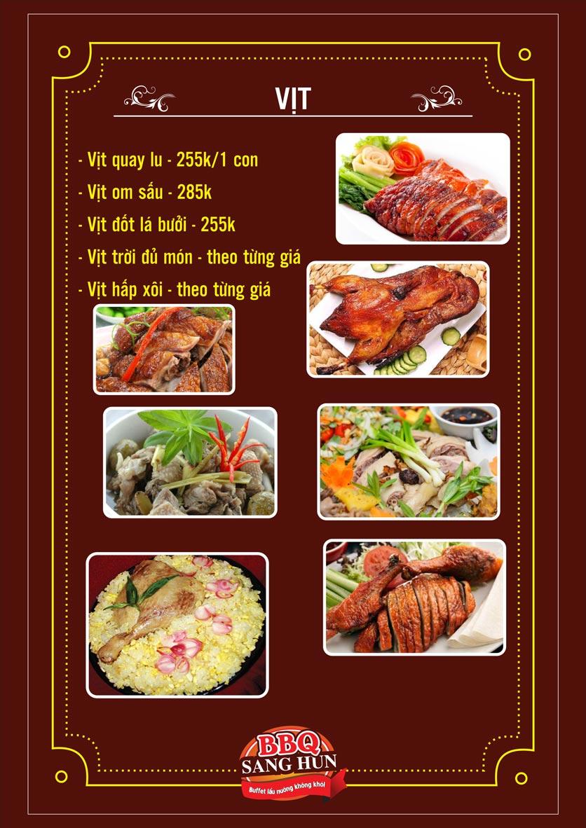 Menu Sang Hun BBQ – Trần Quốc Hoàn  14