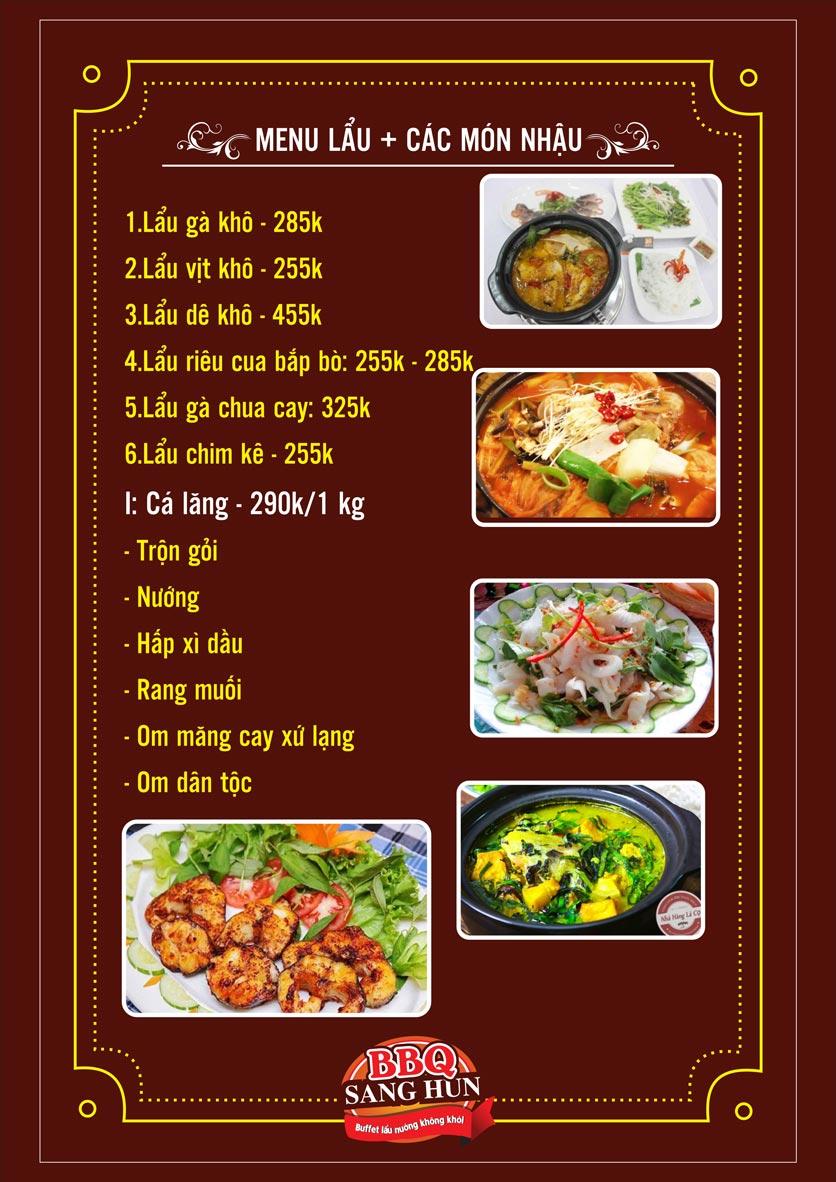Menu Sang Hun BBQ – Trần Quốc Hoàn  19