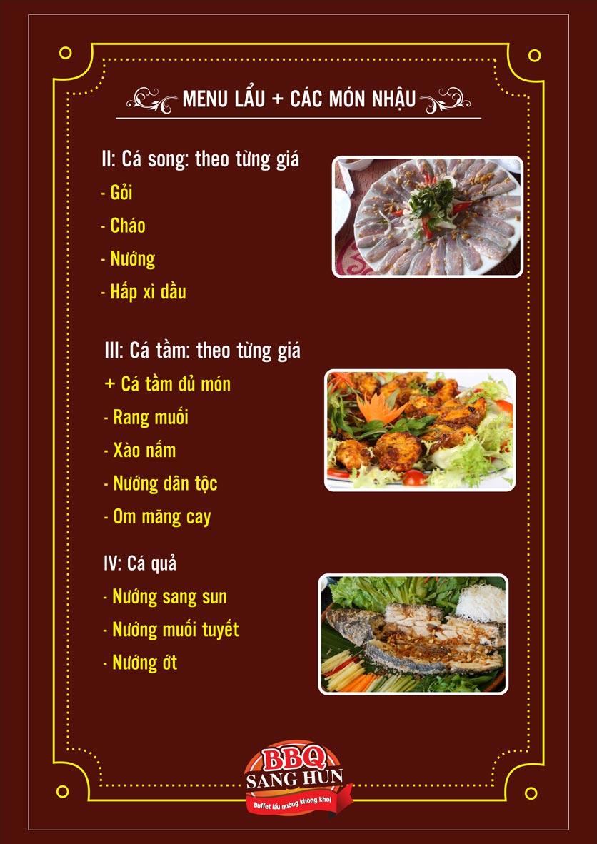 Menu Sang Hun BBQ – Trần Quốc Hoàn  20