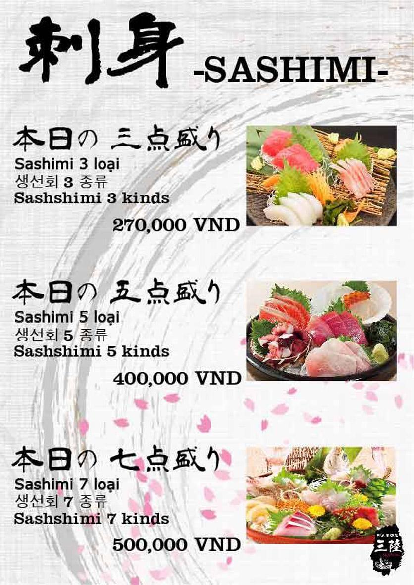 Menu Hải sản Nhật Bản Nihonkai - Khuất Duy Tiến 10