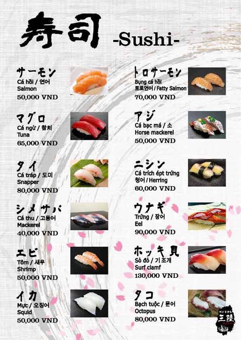 Menu Hải sản Nhật Bản Nihonkai - Khuất Duy Tiến 12