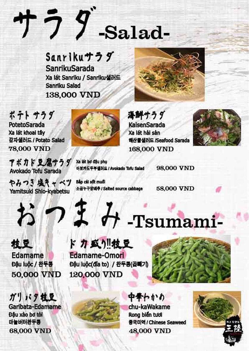 Menu Hải sản Nhật Bản Nihonkai - Khuất Duy Tiến 3