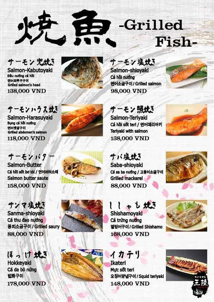 Menu Hải sản Nhật Bản Nihonkai - Khuất Duy Tiến 4
