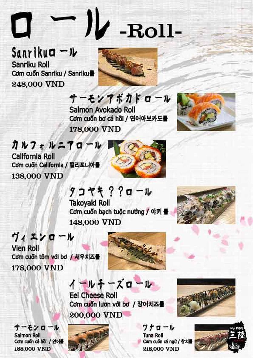 Menu Hải sản Nhật Bản Nihonkai - Khuất Duy Tiến 5