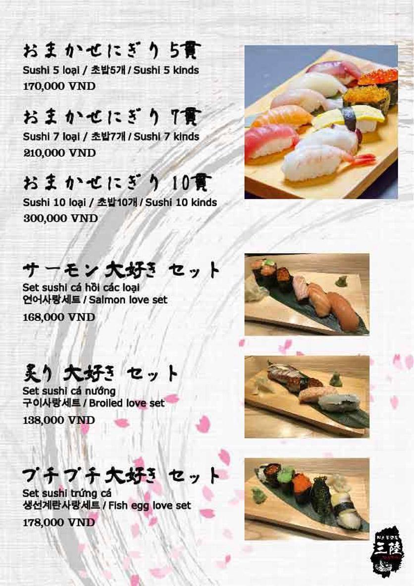Menu Hải sản Nhật Bản Nihonkai - Khuất Duy Tiến 8