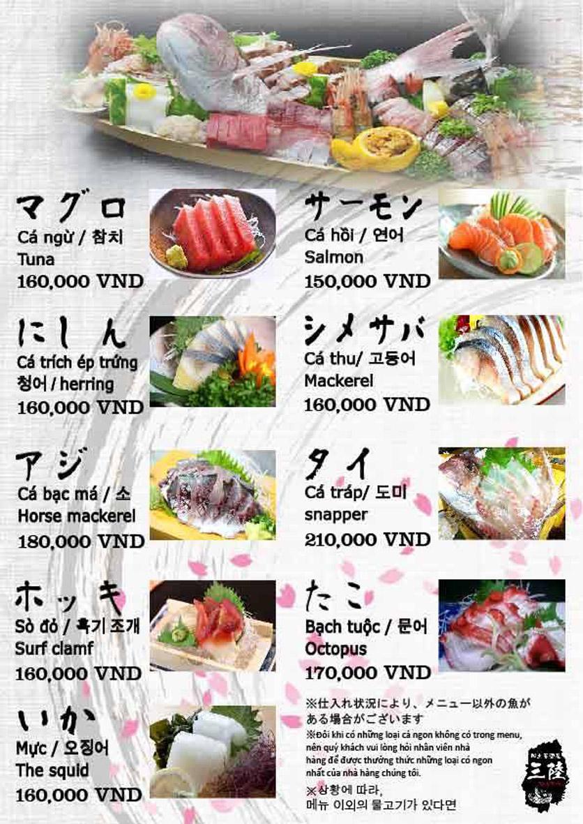 Menu Hải sản Nhật Bản Nihonkai - Khuất Duy Tiến 9
