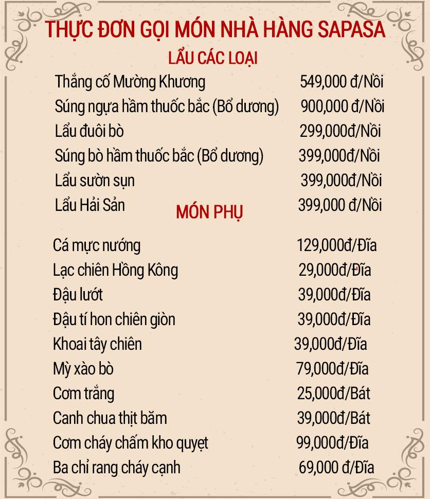 Menu Sapasa – Nguyễn Huy Tưởng  3