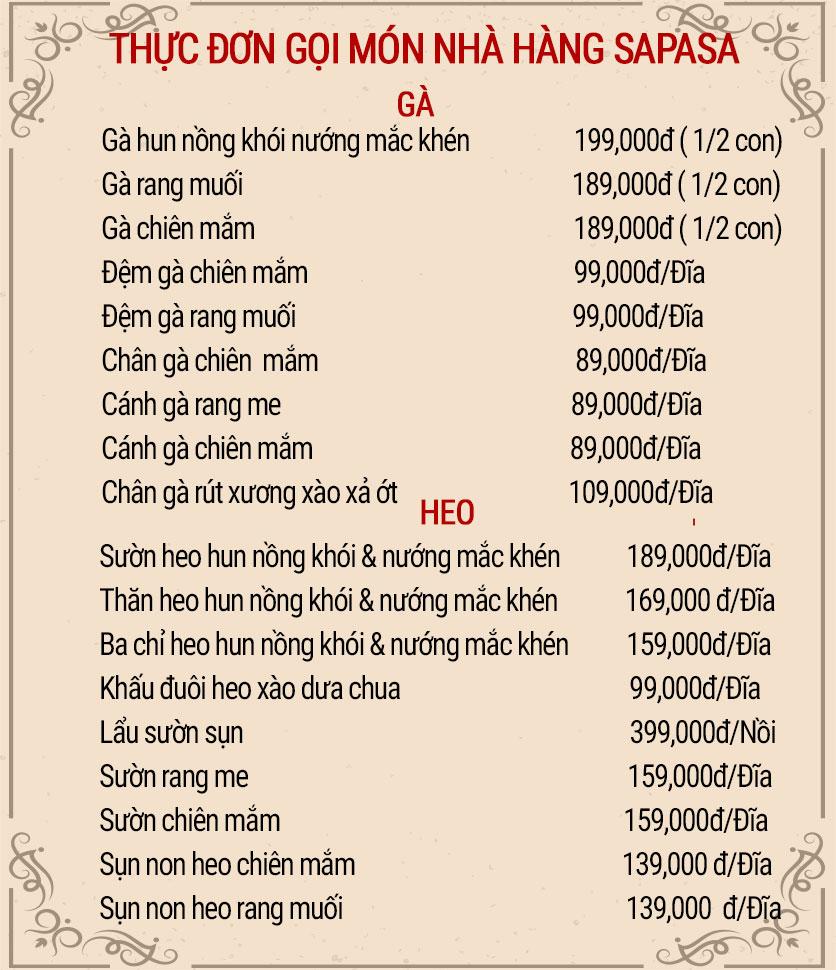 Menu Sapasa – Nguyễn Huy Tưởng  5