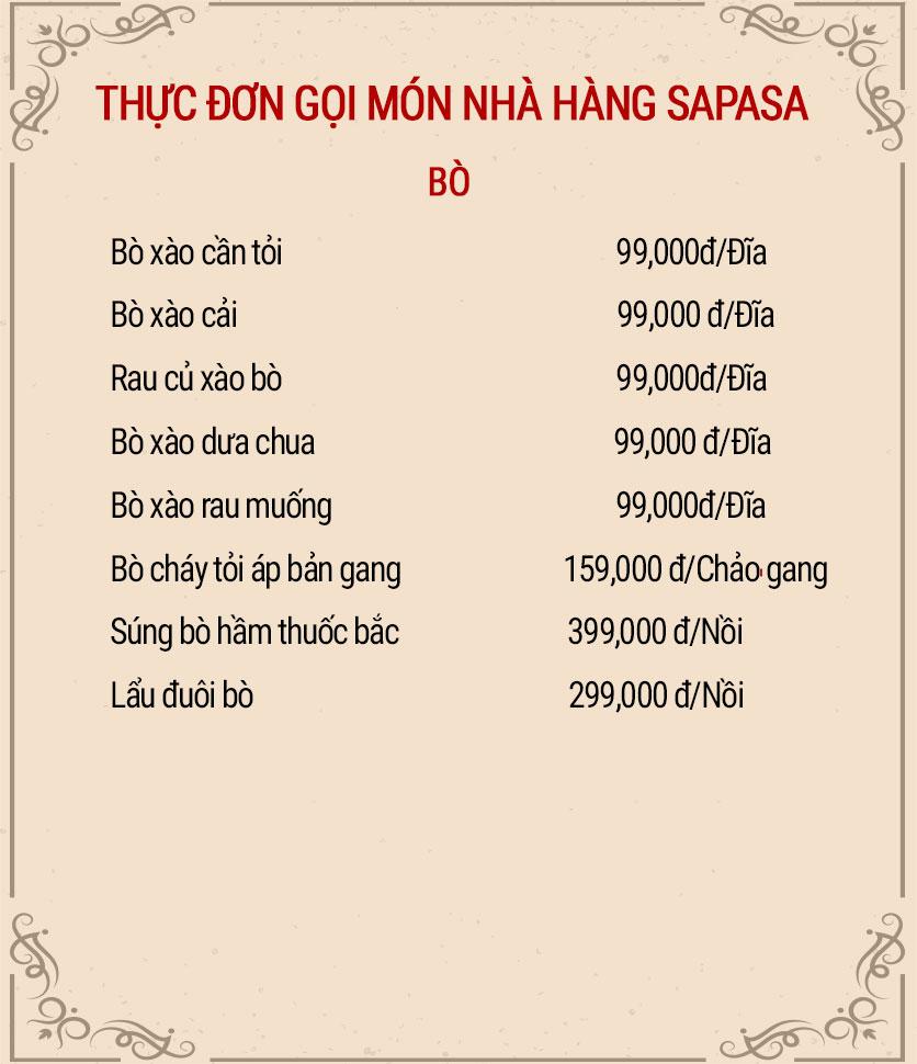 Menu Sapasa – Nguyễn Huy Tưởng  8