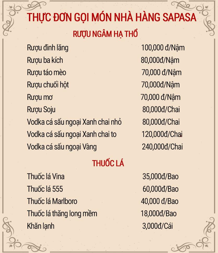 Menu Sapasa – Nguyễn Huy Tưởng  10