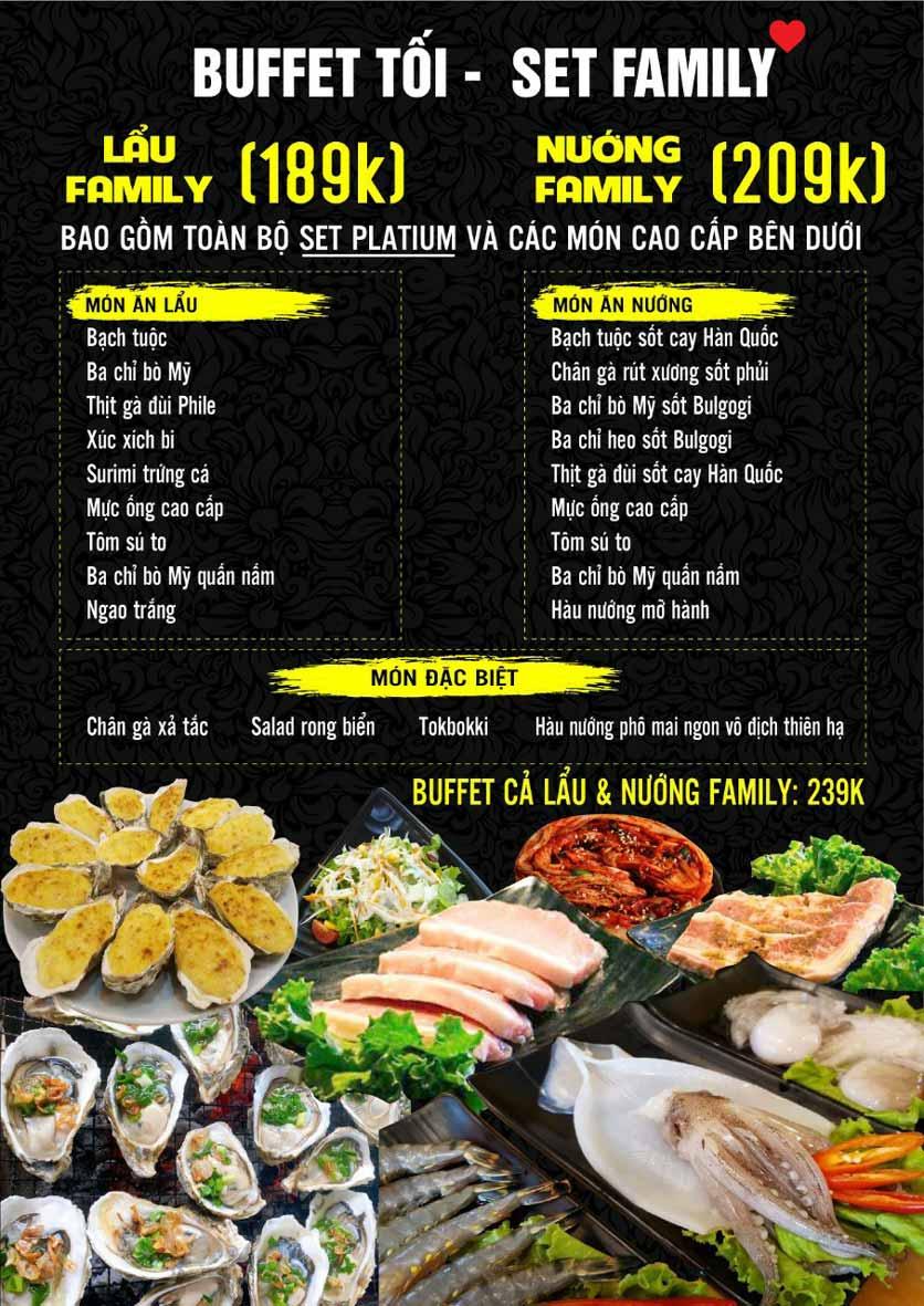 Menu Buffet Sapasa - Nguyễn Huy Tưởng 4